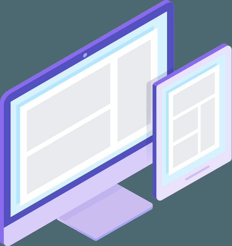 Webdesign Bildschirm